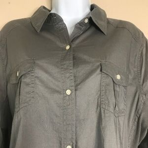Old Navy Womens Top Sz XL Long Sleeve Button Up